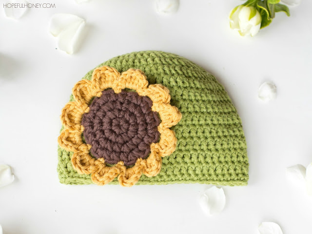 Sunflower Baby Hat Crochet Pattern Stitch And Unwind