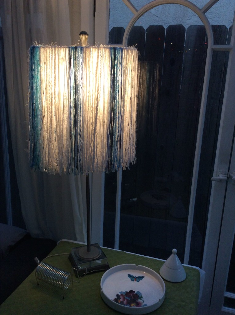 Upcycled Yarn Lamshade Tutorial