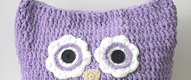 Giant Owl Crochet Pillow Pattern