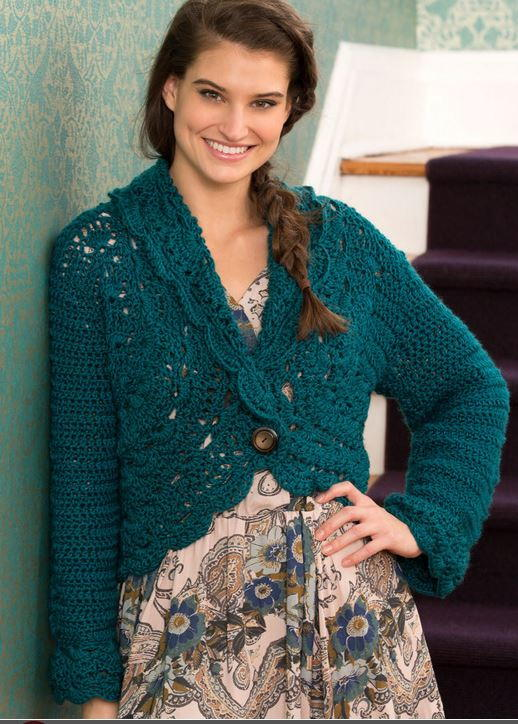 Free Crochet Pattern For Short Cardigan : Bold and Breezy: 14 Spring Sweater Patterns - Stitch and ...