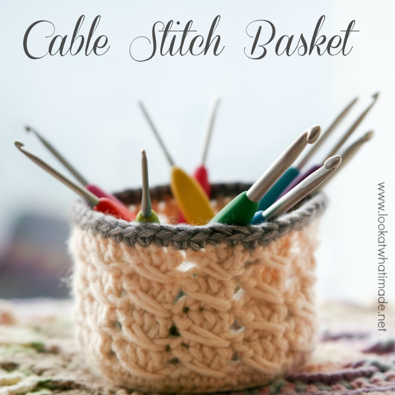 Cable-Stitch-Basket