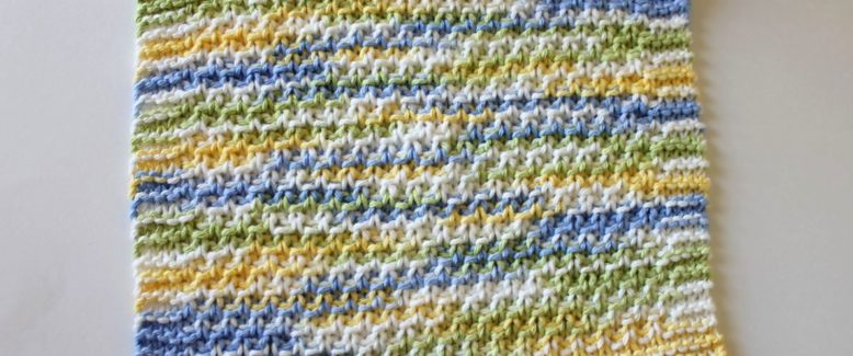 Learn How to Knit with a Knit Dishcloth Pattern