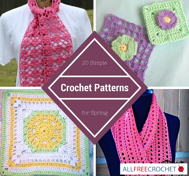 20 Simple Crochet Patterns For Spring Stitch And Unwind