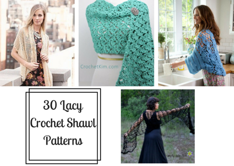 30 Lacy Crochet Shawl Patterns - Stitch and Unwind