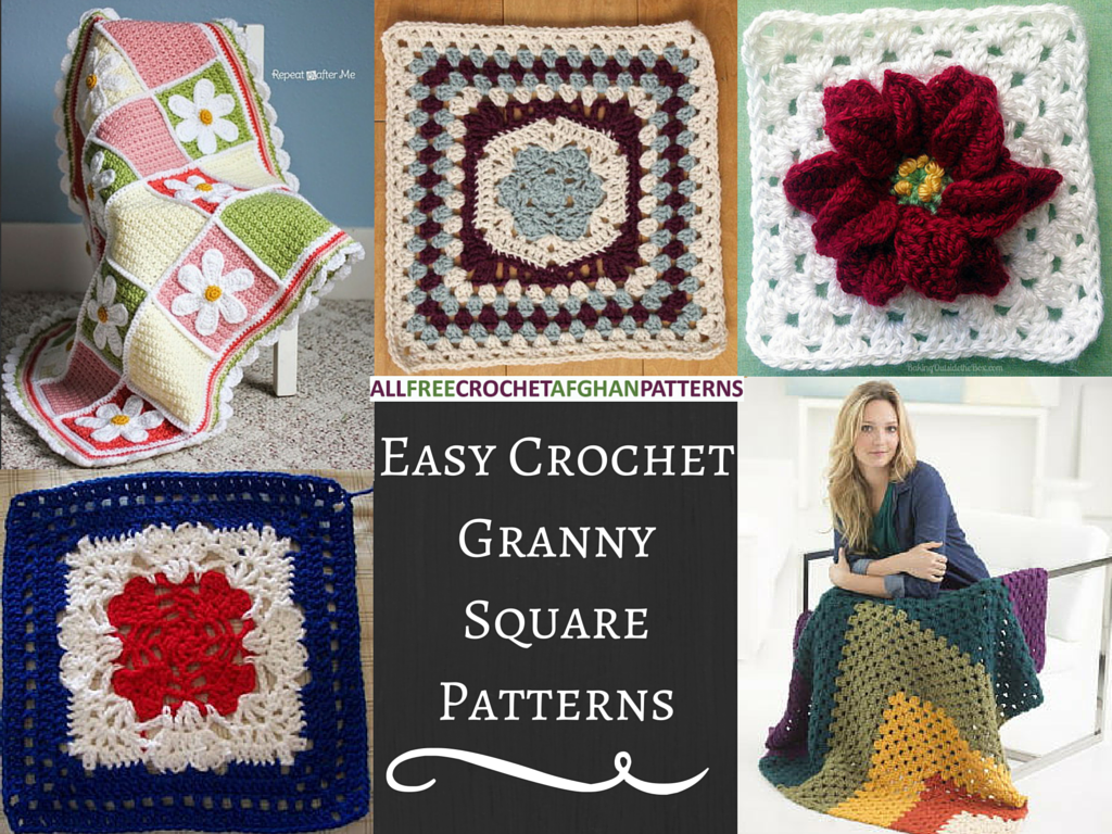 Crochet Easy Granny Square Patterns : 25 Easy Crochet Granny Square Patterns - Stitch and Unwind