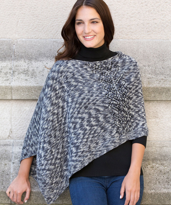Free Pattern Friday Knit Poncho Pattern From Red Heart