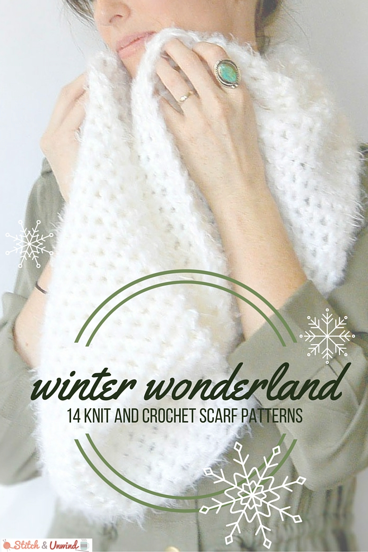 81e779a37bf winter wonderland scarf patterns Winter Wonderland  14 Knit and Crochet  Scarf Patterns
