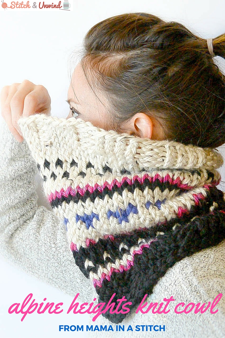 636f0cf21 Guest Post  Alpine Heights Knit Cowl by Mama In A Stitch - Stitch ...