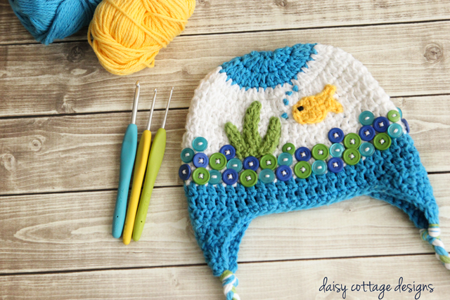 ccaf2d29a Little Fish Crochet Baby Hat Pattern - Stitch and Unwind